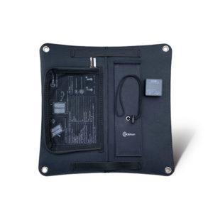 Mobisun 15W draagbaar USB zonnepaneel achterkant