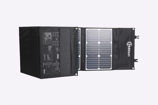 100W 18V lichtgewicht mobiel zonnepaneel Mobisun zijkant