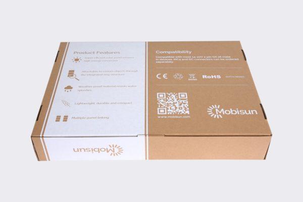 60W Mobisun draagbaar mobiel portable lichtgewicht zonnepaneel doos achterkant