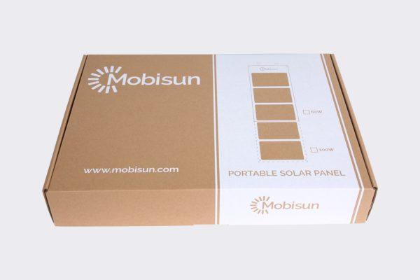 60W Mobisun draagbaar mobiel portable lichtgewicht zonnepaneel doos voorkant
